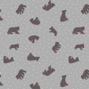 Lewis & Irene - Bear Hug - 6190 - Scattered Bears on Grey  - A314.2 - Cotton Fabric